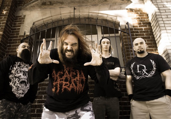"SOULFLY DOES NAILBOMB: Performing ""Point Blank"" - October 20, 2017, Montreal"