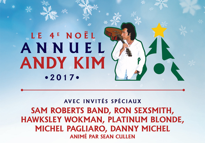 Andy Kim Christmas - December 16, 2017, Montreal
