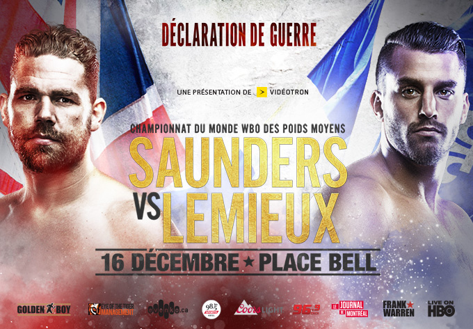 Boxing: Saunders vs Lemieux - December 16, 2017, Laval