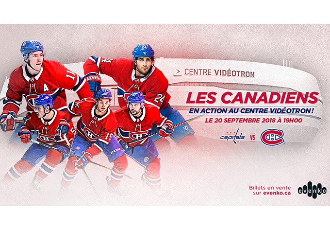 Capitals de Washington vs. Canadiens de Montréal - 20 septembre 2018, Québec