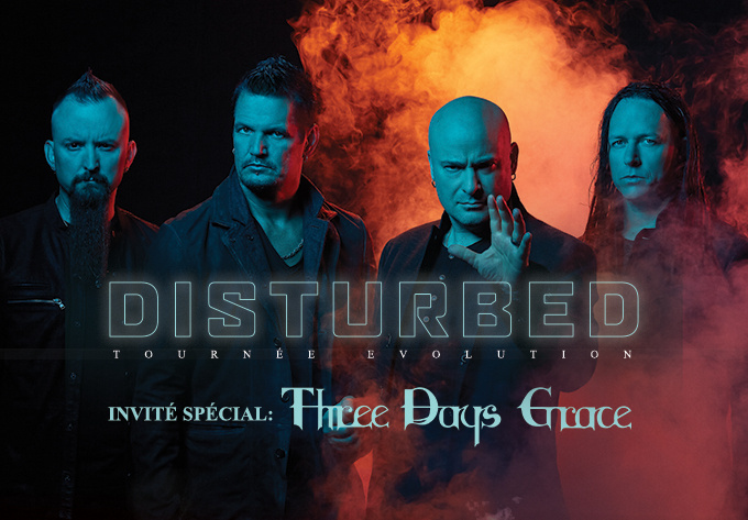 Disturbed - Tournée Mondiale Evolution - 1 mars 2019, Laval