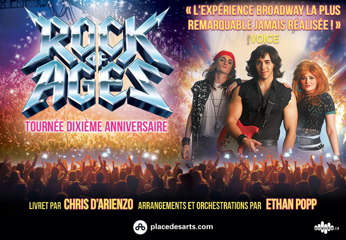 Rock Of Ages (in English) - March 22, 2019, Montreal