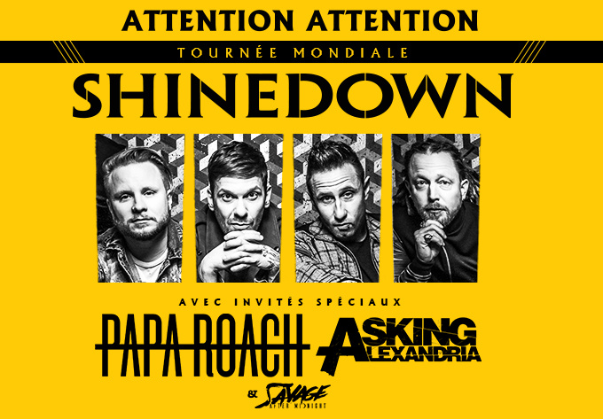 Shinedown - 24 septembre 2019, Laval