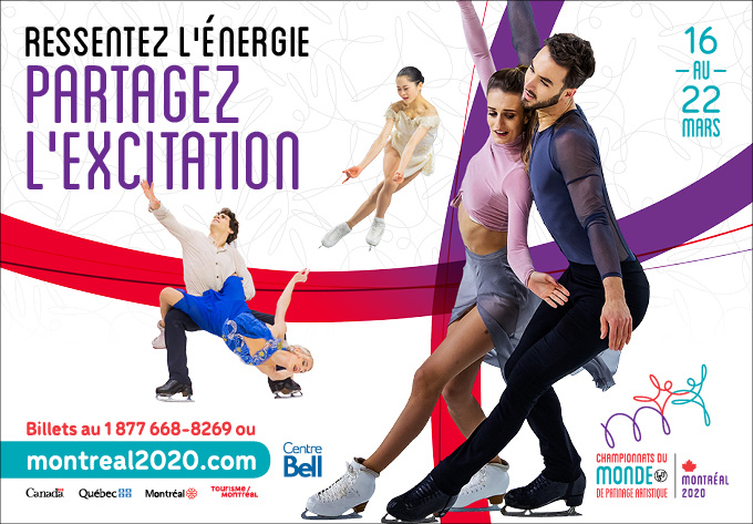 ISU World Figure Skating Championships® from March 16 to 22, 2020 - March 16, 2020, Montreal