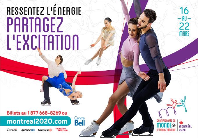 Championnats du Monde ISU de Patinage Artistique du 16 au 22 mars 2020 - 16 mars 2020, Montréal