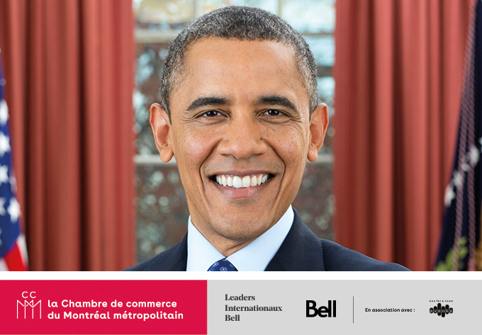 Barack Obama <br><span style=font-size:13px;><strong>Hosted by the Chamber of commerce of metropolitan Montreal</strong></span> - November 14, 2019, Montreal