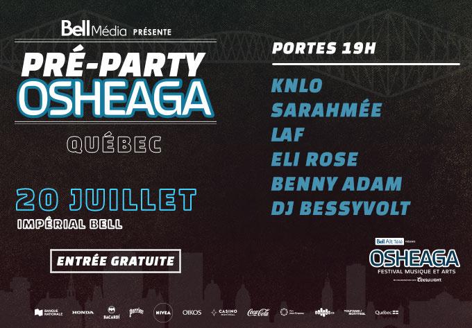 Official Osheaga Pre Party - July 20, 2019, Quebec