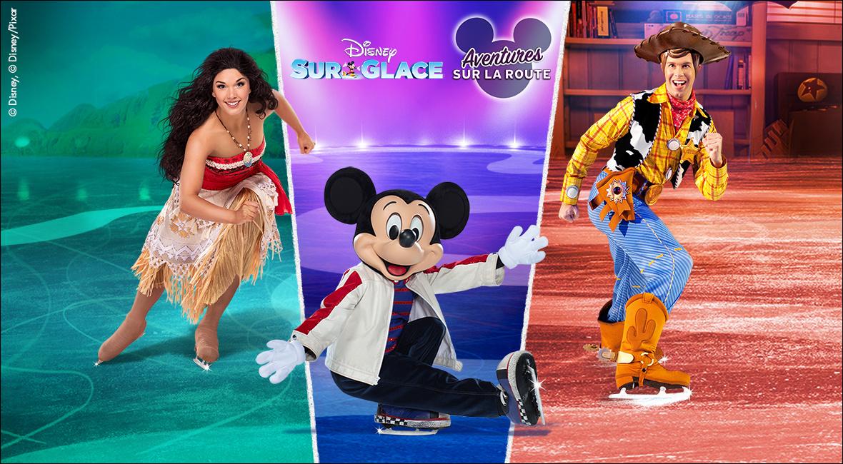 Disney sur glace présente Aventures sur la route (en français)