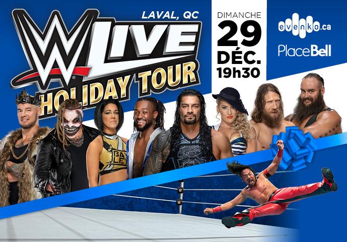WWE Live Holiday Tour - 29 décembre 2019, Laval