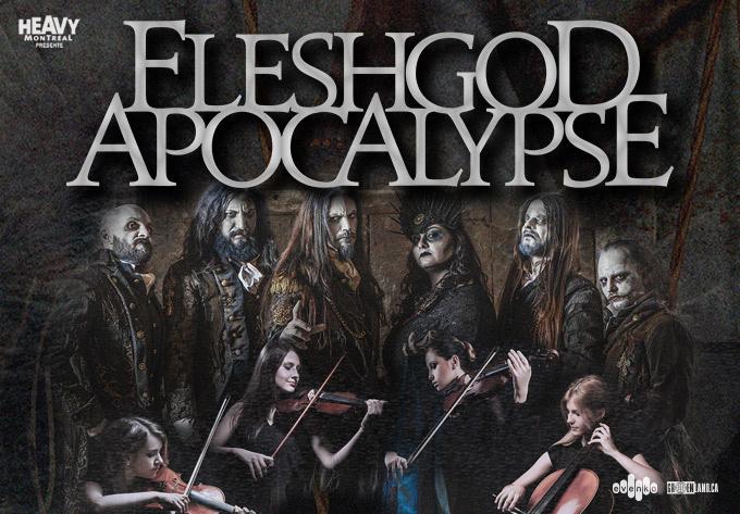 Fleshgod Apocalypse Feat. The Veleno Classical Quartet - 24 mars 2020, Montréal