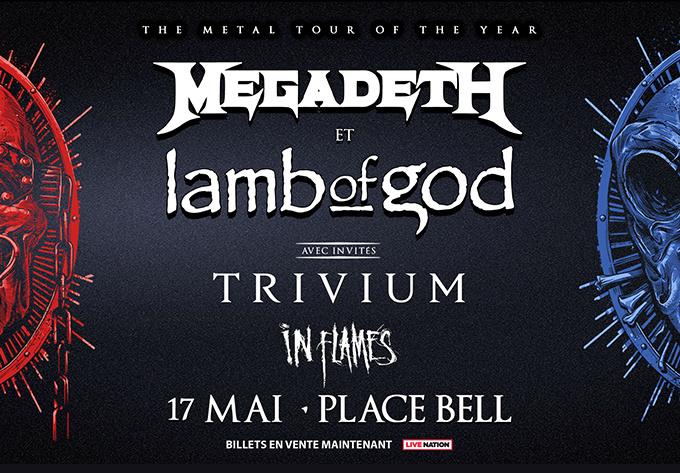 Megadeth + Lamb Of God - 1 octobre 2021, Laval