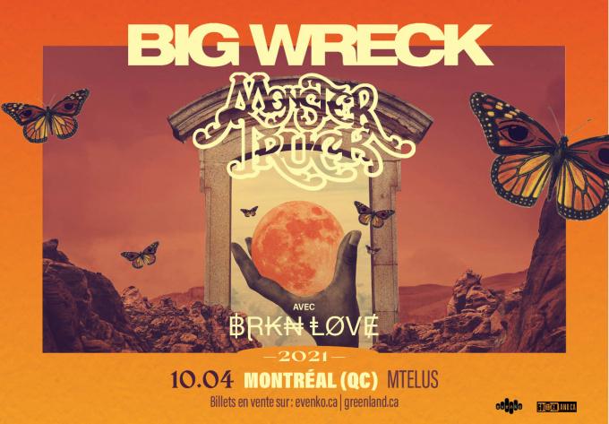 Big Wreck & Monster Truck - 8 décembre 2021, Montréal
