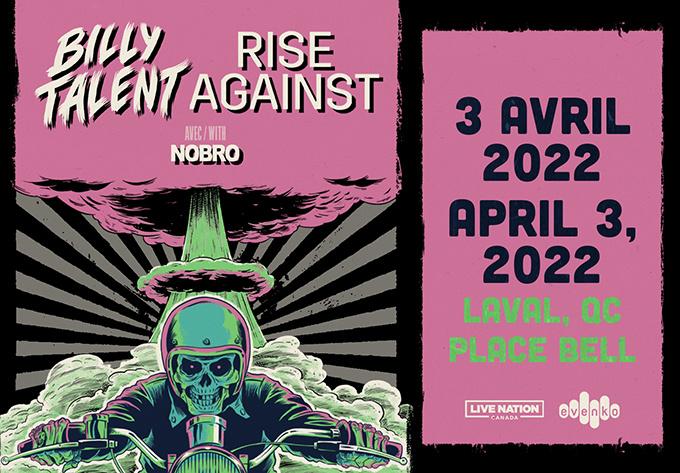Billy Talent & Rise Against  - April  3, 2022, Laval
